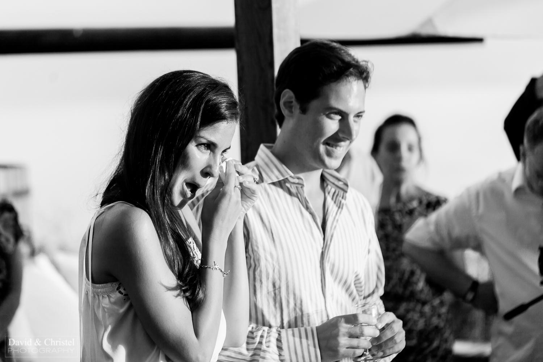 l'emotion de la mariée