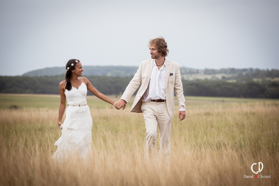 mariage romantique en ete